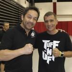 Referee Mario Yamasaki and TUFF-N-UFF Co-Fouder Jeff Meyer
