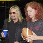 Motley Crue Frontman Vince Neil, Owner of the Las Vegas OUTLAWS With Carott Top at Game Opener