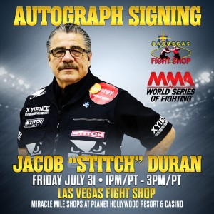 Stitch Duran and WSOF Fighters Autograph Signing