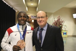 US Olympic Wresting Member Jordan Burroughs with Wrestling Icon Dan Gable