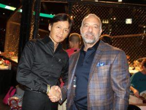 UFC CEO Lorenzo Fertitta with Pancrease MMA Japan CEO Mr. Sakai ringside at recent TUFF-N-UFF